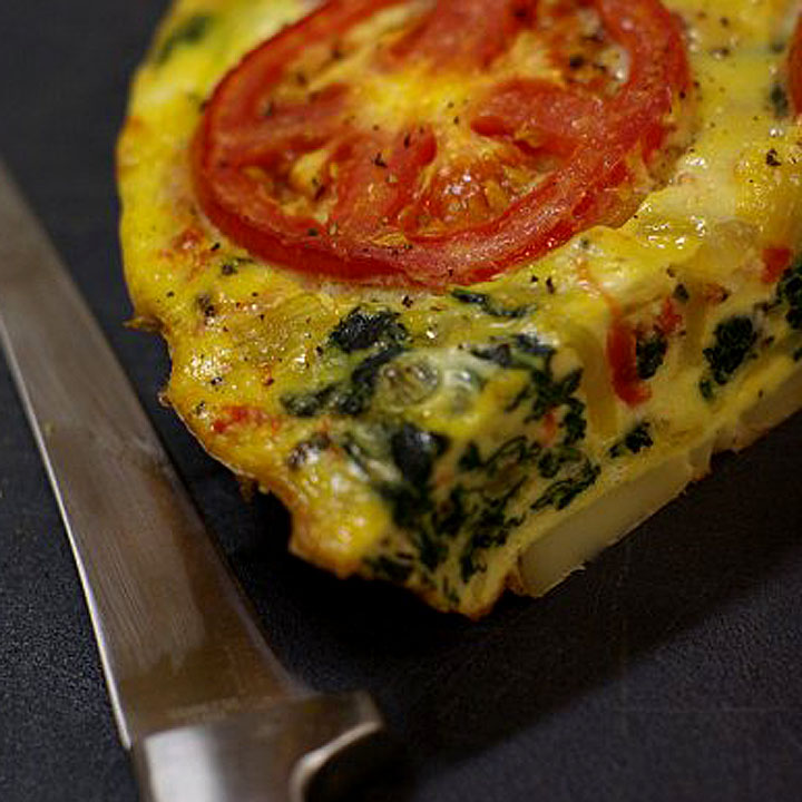 Frittata with Spinach and Tomato | Recipes Randy Cooks