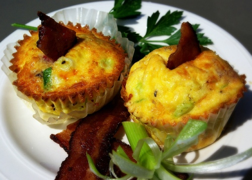 Shrimp & Bacon Frittatas